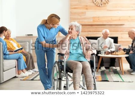 Nurse with elderly invalid Stock photo © photography33