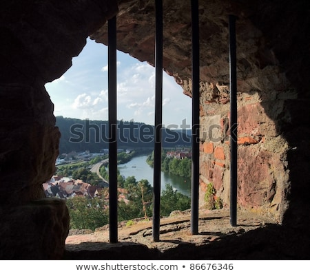 barred window at Wertheim Castle Stock photo © prill