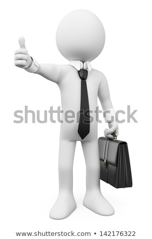 3d Businessman Showing Thumbs On White Background Stockfoto © Texelart