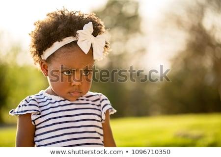 Gyermek lány arc sikoly portré fiatal Stock fotó © photography33