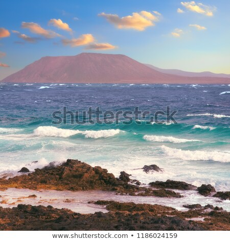 tropisch · eiland · vierkante · hemel · water · natuur · berg - stockfoto © moses