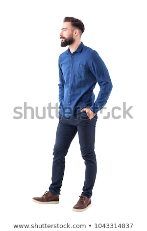 Full length view of smart young man. Side pose stock photo © stockyimages