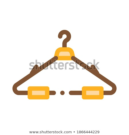 Stock photo: Black and white contour hat hanger