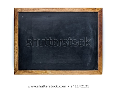 Blank chalkboard in wooden frame isolated Stock photo © ozaiachin