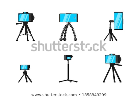 The set of the photographic and cinematic objects Stock photo © perysty