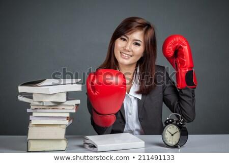 Empresário livros negócio saúde triste secretária Foto stock © photography33
