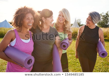 S'adapter quarante belle année vieille femme noir Photo stock © lisafx