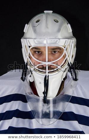 Hockey kleuren Finland afbeelding helm sport Stockfoto © perysty