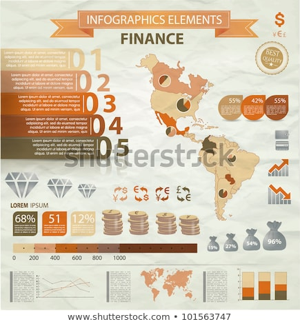 America map and currency Stock photo © 4designersart