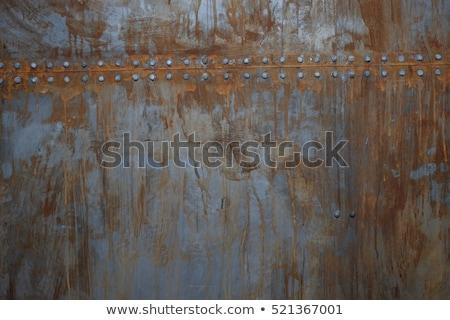 öreg · ipari · retro · acél · klasszikus · viselet - stock fotó © konradbak