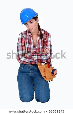 chiave · blu · ritratto · lavoratore · industriali - foto d'archivio © photography33