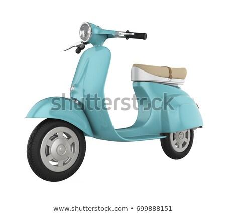 ヘッドライト · オートバイ · 表示 · ワークショップ - ストックフォト © pzaxe