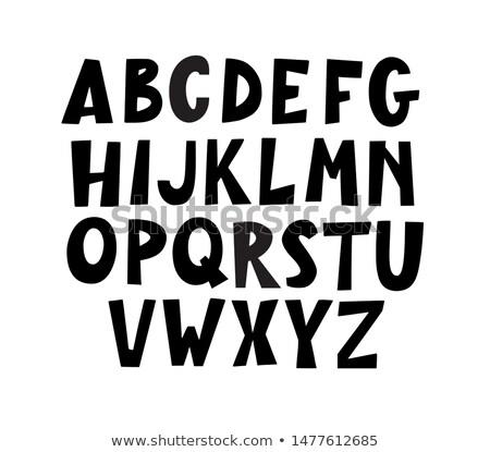 Hand drawn typeface Stock photo © zsooofija
