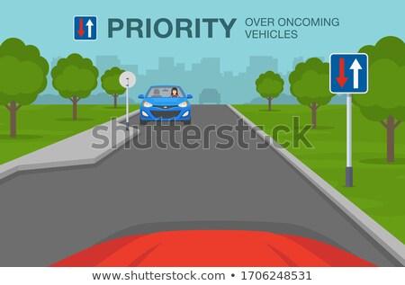 Közelgő forgalom koszos öreg felirat közmondás Stock fotó © kyrien