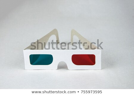 Jetable verres vue 3D films Photo stock © boroda