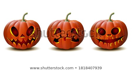 Vector icon pumkin and candle on Halloween Stock photo © zzve