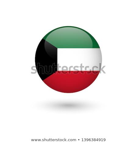 vlag · Koeweit · textuur · kunst · teken · groene - stockfoto © maxmitzu