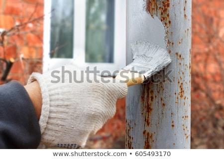 Corrosão pintar superfície ferrugem química quebrado Foto stock © gewoldi