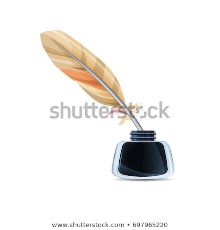 Quill in pot Stock photo © zzve