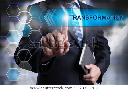 Business Transformation Worte Touchscreen Schnittstelle Computer Stock foto © fotoscool
