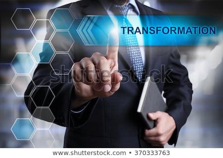 virtueel · technologie · interface · business · hand - stockfoto © fotoscool