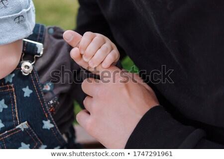 pai · pequeno · menino · dedo · família · homem - foto stock © carenas1