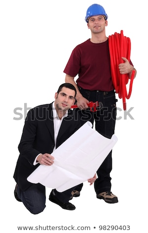 Tradesman and architect standing side by side Stock photo © photography33