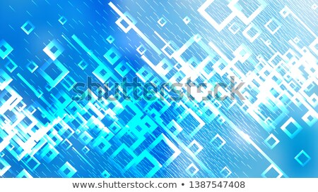 blue, turquoise, white wallpaper shaped in quadrate Stock photo © vladacanon