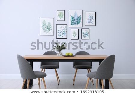 столовой портрет два красивой женщины еды Сток-фото © Fisher