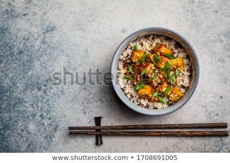 Тофу риса обеда азиатских растительное еды Сток-фото © M-studio