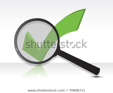 Question Mark Under Magnifier Glass Illustration Design Photo stock © alexmillos