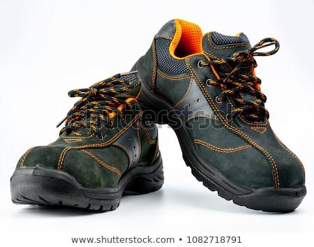Fábrica seguridad zapatos Pareja viaje industrial Foto stock © rufous