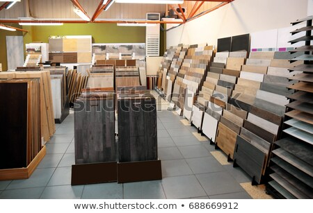Carpenter with an assortment of flooring Stock photo © photography33