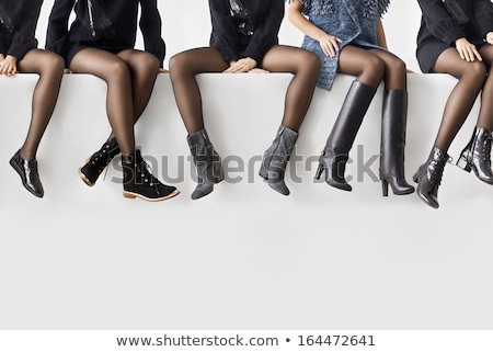 женщину ног черно белые чулки девушки моде Сток-фото © Elnur