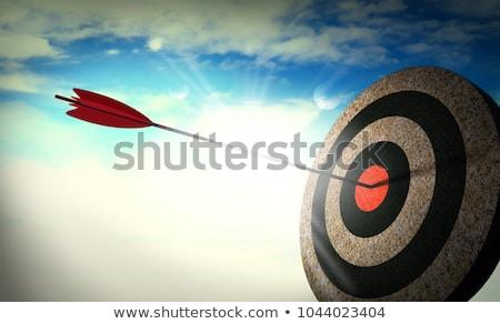 arquero · centrado · senalando · aislado · blanco · deporte - foto stock © gophoto