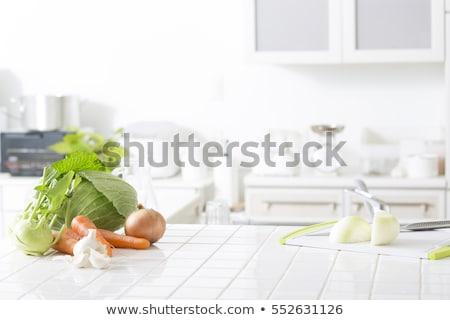 Сток-фото: овощей · таблице · набор · свежие · овощи · кухне