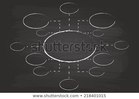 マーケティング フローチャート 黒板 手 白 チョーク ストックフォト © ivelin