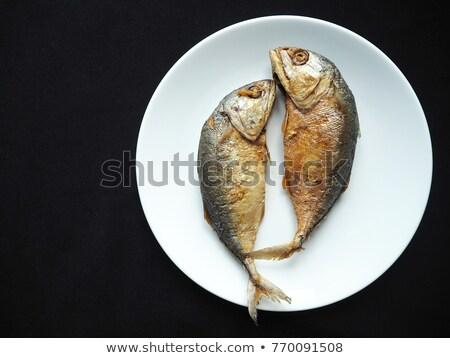 Deep fried Thai mackerel Stock photo © smuay
