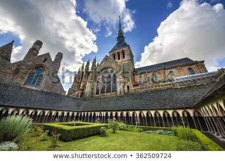 Cloister in the abbey of Mont Saint Michel Stock photo © smuki