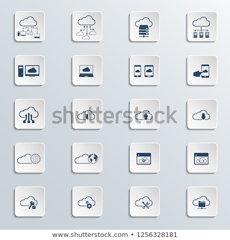 Shared Cloud Folder Icon Stock photo © WaD