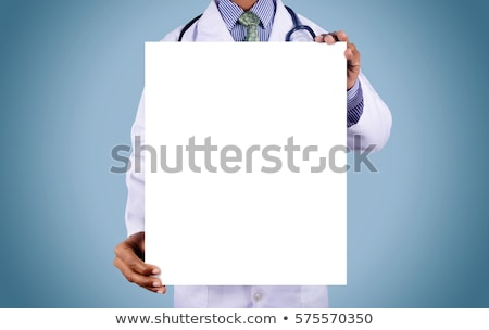 stethoscope with a blank white paper stock photo © antonihalim