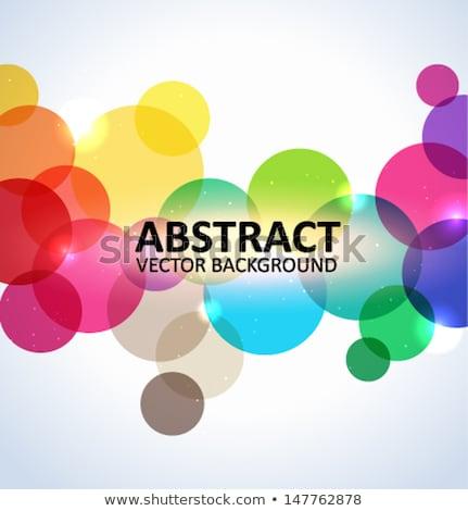 Colorido círculos projeto arte calendário urbano Foto stock © shawlinmohd