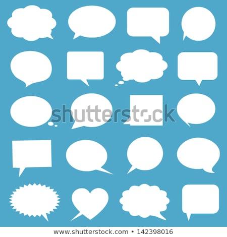 Mavi iş konuşma balonu arka plan sanat düşünmek Stok fotoğraf © burakowski