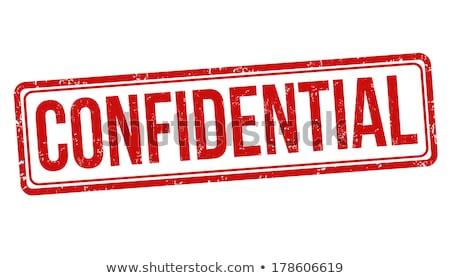 Confidencial carimbo vermelho branco projeto fundo Foto stock © anbuch