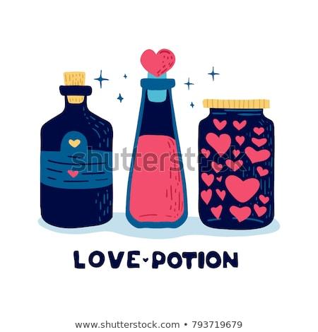 T Shirt Template- Love potion Stock photo © shawlinmohd