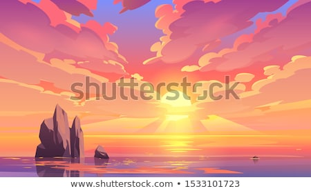 soleil · lac · ciel · eau · lumière - photo stock © bsani