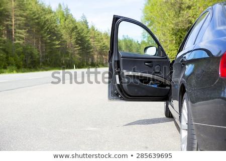 Nyitott ajtó autó üveg ajtó fém ablak Stock fotó © bmonteny