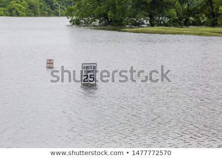 traffic sign under water stock photo © simply