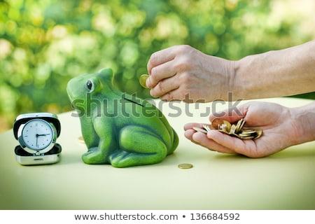 Kéz kredit ajtó női bank részleg Stock fotó © stevanovicigor