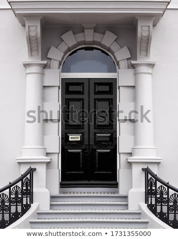 Entrance porch with archway and railings Stock photo © iriana88w